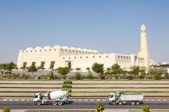 Storslagen moské i Doha, Qatar Fotografering för Bildbyråer