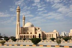 Storslagen moské i Manama, Bahrain arkivbild