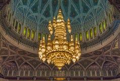 Storslagen moské - Muscat - Oman royaltyfri fotografi