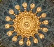 Storslagen moské - Muscat - Oman Royaltyfria Foton