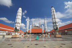 Storslagen moské Semarang Royaltyfri Fotografi