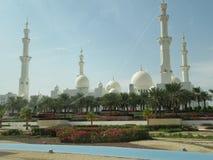 Storslagen mosk? Abu Dhabi, UAE arkivfoton
