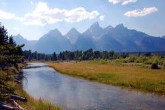 storslagen nationalparklandskapteton Arkivfoton
