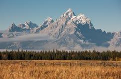 storslagen nationalparkteton royaltyfri bild