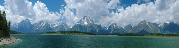 storslagen nationalparkteton Arkivbild