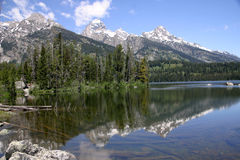 storslagen nationalparkteton Arkivfoton