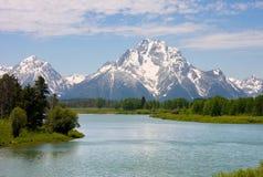 storslagen nationalparkteton wyoming Arkivfoto