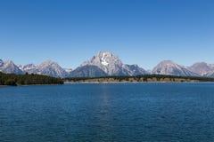 storslagen nationell panorama- parkteton USA visar wyoming Royaltyfria Bilder
