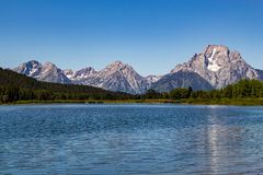 storslagen nationell panorama- parkteton USA visar wyoming Arkivfoto