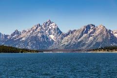 storslagen nationell panorama- parkteton USA visar wyoming Fotografering för Bildbyråer