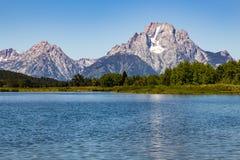 storslagen nationell panorama- parkteton USA visar wyoming Arkivfoton