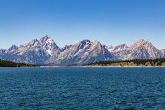 storslagen nationell panorama- parkteton USA visar wyoming Royaltyfri Bild