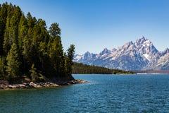 storslagen nationell panorama- parkteton USA visar wyoming Royaltyfria Foton