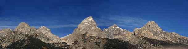 storslagen panoramateton Arkivbild
