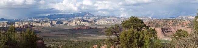 storslagen panoramatrappuppgångutah utsikt Arkivbild