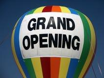 storslagen öppning för ballong Fotografering för Bildbyråer
