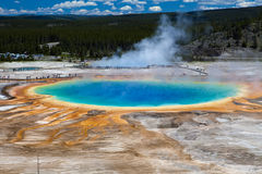 Storslagen prismatisk vår - Yellowstone nationalpark Royaltyfria Foton
