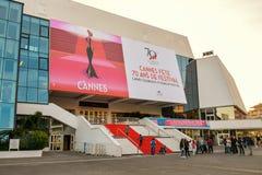 Storslagen salong Louis Lumiere i Cannes Arkivbild