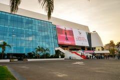 Storslagen salong Louis Lumiere i Cannes Arkivbilder