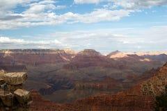 storslagen scenisk sikt för kanjon Arkivbilder