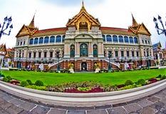 Storslagen slott, bangkok Arkivbild