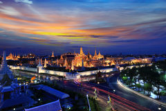 Storslagen slott i Bangkok, Thailand arkivfoto