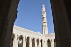 storslagen sultan för moskémuscatoman qaboos royaltyfri fotografi