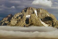 Storslagen Teton nationalpark i Wyoming Arkivbilder
