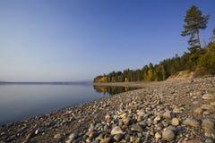 Storslagen Tetons Jackson Lake royaltyfria foton