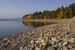 Storslagen Tetons Jackson Lake royaltyfri foto