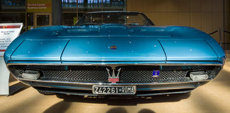 Storslagen Tourerbil Maserati Ghibli Spyder AM115, 1970 royaltyfria bilder
