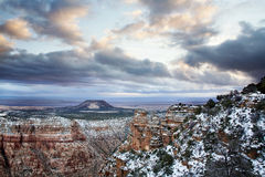 storslagen vinter för kanjon Royaltyfria Bilder