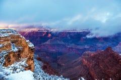 storslagen vinter för kanjon Arkivfoton