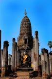 storslagen wat för korridormaha sukhothai Royaltyfria Bilder