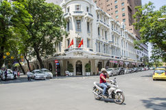 Storslaget hotell Saigon Arkivfoto