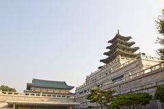storslaget koreanskt tempel fotografering för bildbyråer