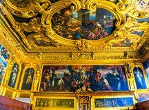 Storslaget råd Palazzo Ducale Doge& x27 för tak; s-slott Venedig Italien Royaltyfri Bild