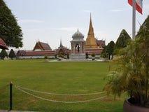 Storslaget slottbyggnadskomplex Bangkok arkivfoton