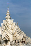 Storslaget storslagen vit tempel Arkivbilder