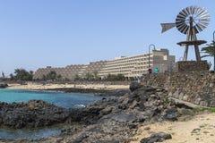 Storslaget Teguise Playa hotell Arkivbild