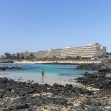 Storslaget Teguise Playa hotell Royaltyfri Bild