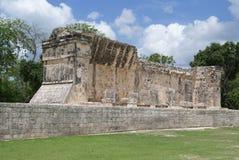 Storslagna Ballcourt, El Castillo, chichen itzaen, Mexico arkivbild