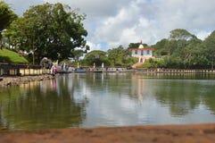 Storslagna Bassin - Ganga Talao - Mauritius Royaltyfri Foto