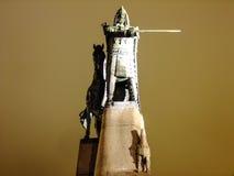 Storslagna Duke Gediminas Sculpture Arkivfoto