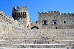 storslagna greece styrer slotten rhodes Arkivbild