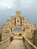 storslagna greece styrer slotten rhodes Arkivfoto