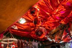 Storslagna Marche de Noel, Bordeaux jul marknadsför i Frankrike arkivfoton