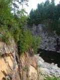 Storslagna nedgångar klyfta, New Brunswick, Kanada fotografering för bildbyråer