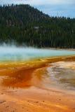 Storslagna prismatiska vårar Yellowstone nationalpark, Wyoming Royaltyfri Fotografi