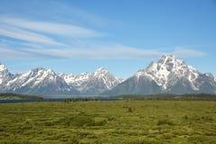 Storslagna Tetons i Wyoming royaltyfri foto